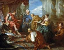 Иосиф представляет своего отца и братьев фараону - Буше, Франсуа