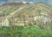 Деревушка у подножия холма, Живерни - Моне, Клод