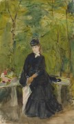 Эдма, сестра художницы, сидящая в парке - Моризо, Берта