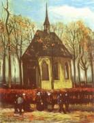 Выход из протестантской церкви в Нюэнене - Гог, Винсент ван