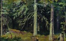 Еловый лес, 1890 - Шишкин, Иван Иванович