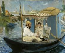 Клод Моне и мадам Моне в лодке в Аржантее - Мане, Эдуард