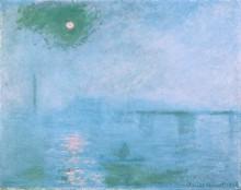 Мост Чаринг-Кросс, туман над Темзой - Моне, Клод