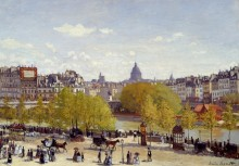 Вид на  Лувр, 1867 - Моне, Клод