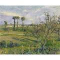 Закат в  Валермейл, Овер-сюр-Уаз, 1880 - Писсарро, Камиль