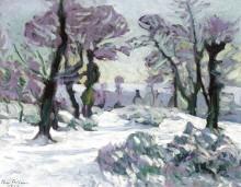 Снежный пейзаж, 1909 - Пайе, Анри