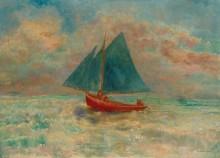 Красная лодка с голубыми парусами - Редон, Одилон