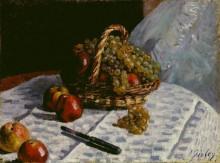 Натюрморт с яблоками и виноградом - Сислей, Альфред