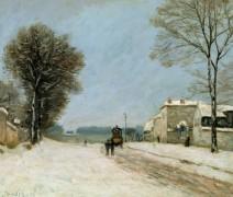 Пор-Марли зимой - Сислей, Альфред