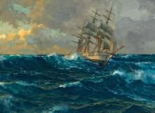 Трехмачтовый корабль в открытом море - Димер, Михаэль