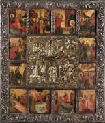 Воскресение Христово с Двунадесятыми праздниками (ок.1750)