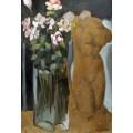 Букет цветов и статуэтка - Лемпицка, Тамара