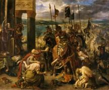 Взятие Константинополя крестоносцами 12 апреля 1204 года - Делакруа, Эжен