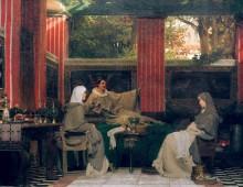 Венанций Фортунат читает свою поэму Радегонде VI - Альма-Тадема, Лоуренс