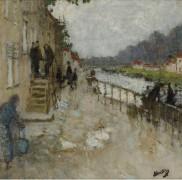 Берег канала в Сен-Мамме - Монтезен, Пьер-Эжен