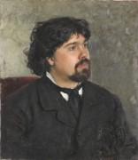 Портрет художника Василия Ивановича Сурикова - Репин, Илья Ефимович