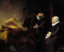 Проповедник меннонитов Ансло и его жена - Рембрандт, Харменс ван Рейн