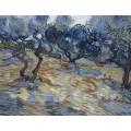 Оливковые деревья, яркое голубое небо (Olive Trees, Bright Blue Sky), 1889 - Гог, Винсент ван