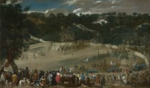 Филипп IV  на охоте на  кабана - Веласкес, Диего