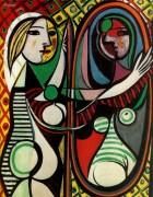 Девушка перед зеркалом, 1932 - Пикассо, Пабло