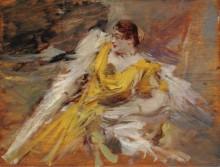Дама в желтом, 1912 - Больдини, Джованни