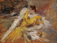 Дама в желтом, 1912 - Болдини, Джованни
