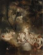 Купальщицы в лесу, 1930 -  Глюкман, Григорий