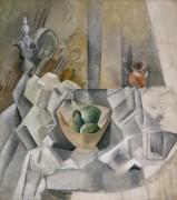 Графин, кувшин и ваза с фруктами - Пикассо, Пабло
