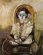 Жаклин сидит в кресле-качалке, 1954 - Пикассо, Пабло