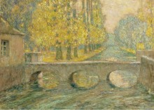 Мост, осень, Гизо, 1904 - Сиданэ, Анри Эжен Огюстен Ле