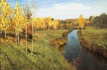 Золотая осень - Левитан, Исаак Ильич
