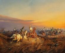 Атака австрийских драгунов - Бенса, Александер фон