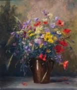Букет летних цветов в керамическом кувшине - Гёбль-Валь, Камилла
