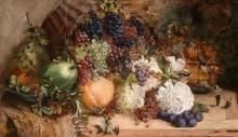 Большой натюрморт с цветами и фруктами - Фишер, Карл