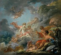 Вулкан передает Венере оружие для Энея - Буше, Франсуа