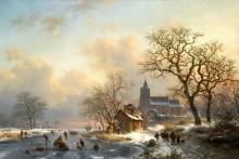 Зимний пейзаж с играми на льду - Круземан, Фредерик Маринус