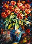 Красные розы - Афремов, Леонид (20 век)