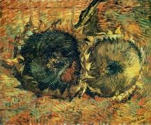 Два срезанных посолнуха (Still Life with Two Cutted Sunflowers), 1887 - Гог, Винсент ван