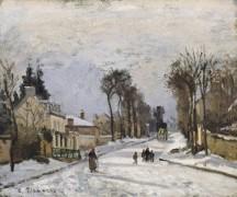 Дорога в Версаль, 1869 - Писсарро, Камиль
