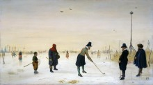 Игроки в гольф на льду - Аверкамп, Хендрик