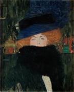 Дама в шляпке и боа из перьев - Климт, Густав
