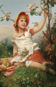 Девочка с цветами - Лицен-Майер, Александер фон