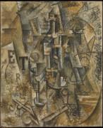 Натюрморт с бутылкой рома - Пикассо, Пабло
