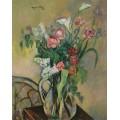 Букет цветов в хрустальной вазе - Валадон, Сюзанна