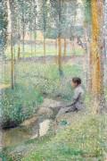 Женщина у ручья - Мартен, Анри Жан Гийом