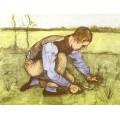 Мальчик, обрезающий траву серпом - Гог, Винсент ван