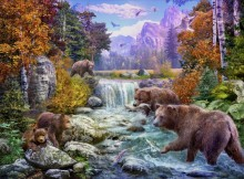 Медведи на горном ручье