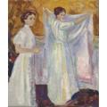 Медсестра, держащая простынь - Мунк, Эдвард