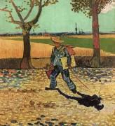 Автопортрет. Художник идет работать (Self Portrait on the Road to Tarascon (The Painter on His Way to Work)), 1888 - Гог, Винсент ван