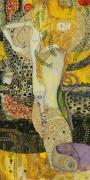 Водяные змеи (современная копия) - Климт, Густав